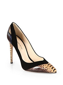 Alexandre Birman - Python & Suede Pumps
