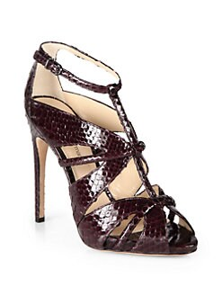 Alexandre Birman - Python Strappy Sandals