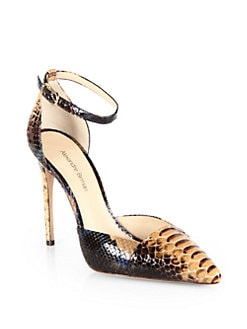Alexandre Birman - Python Ankle Strap Pumps