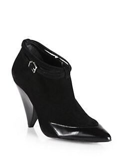 Robert Clergerie - Gigi Suede & Leather Ankle Boots