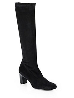 Robert Clergerie - Prisca Stretch Suede Knee-High Boots