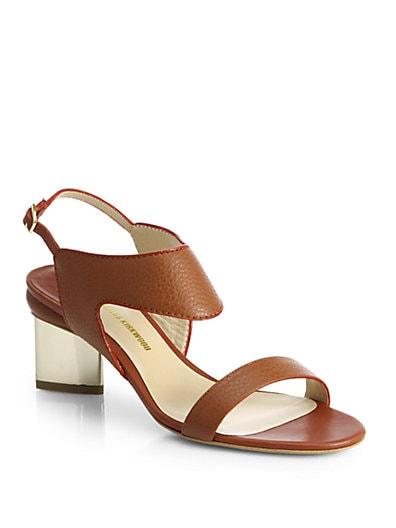 Platino Leather Sandals