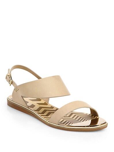 Zig Zag Leather Sandals
