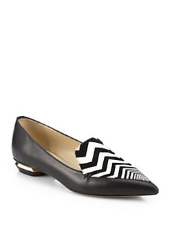 Nicholas Kirkwood - Leather Zigzag-Detail Loafers