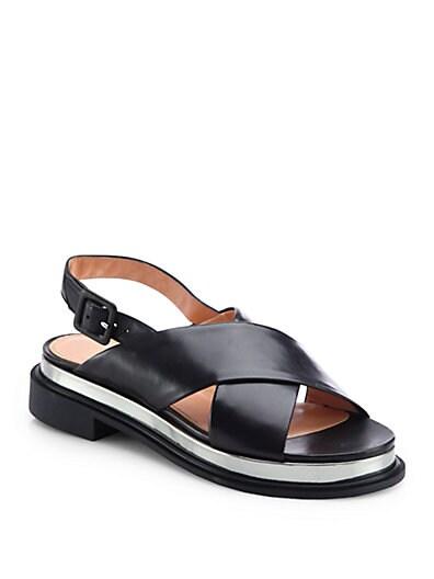 Caliba Crisscross Leather Sandals