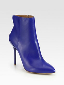 Maison Martin Margiela - Leather Point-Toe Ankle Boots