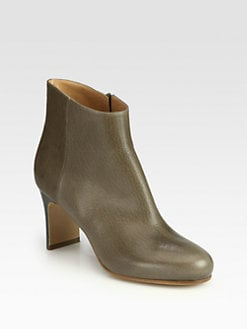 Maison Martin Margiela - Leather Wooden Heel Ankle Boots