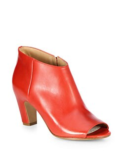 Maison Martin Margiela - Leather Open-Toe Ankle Boots