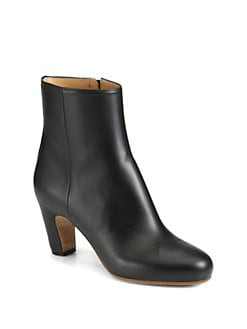 Maison Martin Margiela - Leather Curved Heel Ankle Boots