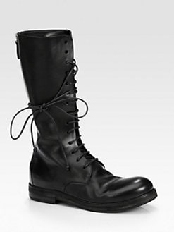 Marsell - Leather Knee-High Combat Boots