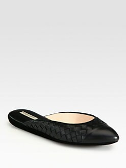 Bottega Veneta - Woven Leather Slippers