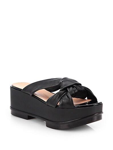 Ferine Leather Platform Sandals