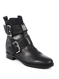 Pierre Hardy - Leather Double Buckle Motorcycle Boots