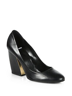 Pierre Hardy - Leather Lacquered Heel Pumps