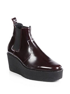 Pierre Hardy - Leather Platform Wedge Ankle Boots