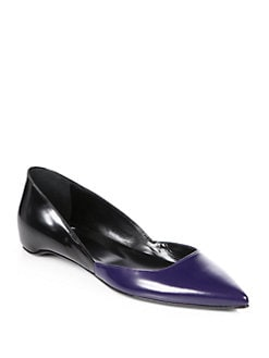 Pierre Hardy - Bicolor Leather Point-Toe Flats