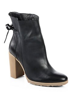 Pierre Hardy - Leather Bow-Detail Ankle Boots