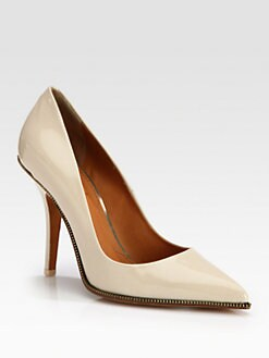 Givenchy - Patent Leather Zipper-Detail Pumps