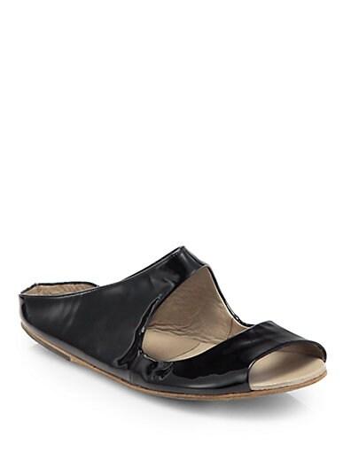 Patent Leather Cutout Sandals