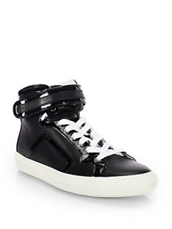 Pierre Hardy - Leather High-Top Sneakers