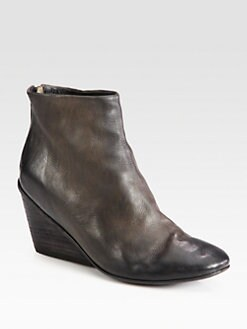 Marsell - Leather Slouchy Ankle Boots