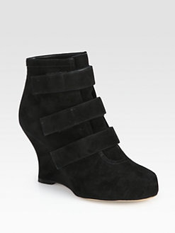 Tabitha Simmons - Amber Suede Strappy Wedge Ankle Boots