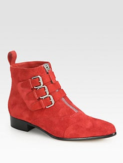 Tabitha Simmons - Early Suede Buckle Ankle Boots