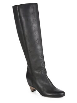 Maison Martin Margiela - Nubuck Leather Knee-High Wedge Boots