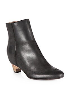 Maison Martin Margiela - Nubuck Leather Wedge Ankle Boots