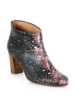 Maison Martin Margiela - Milky Way Python-Embossed Leather Ankle Boots