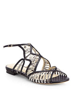 Alexandre Birman - Python & Leather Sandals