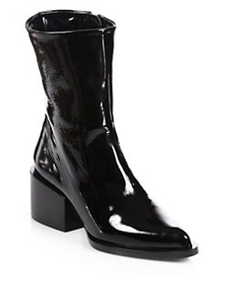 Jil Sander - Patent Leather Mid-Calf Boots