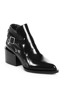 Jil Sander - Leather Buckle Ankle Boots