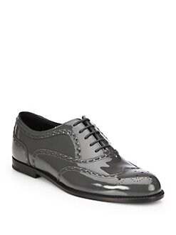 Bottega Veneta - Patent Leather Lace-Up Oxfords