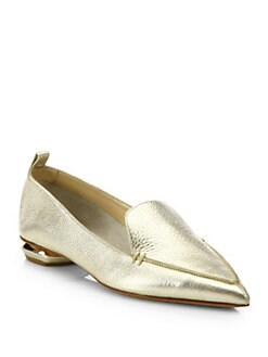 Nicholas Kirkwood - Metallic Leather Loafers