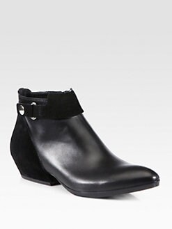 Costume National - Suede & Leather Ankle Boots