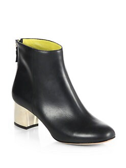 Pollini - Leather Ankle Boots