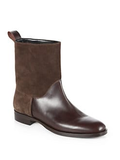 Pollini - Leather & Suede Boots