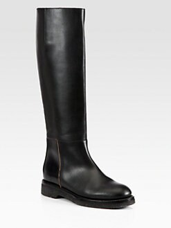 Marni - Leather Knee-High Flat Boots