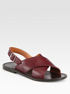 Marni - Leather Crisscross Sandals