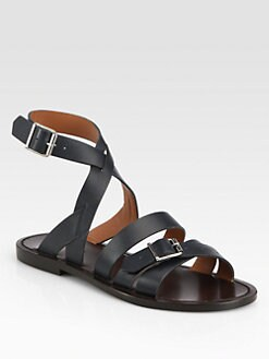 Marni - Leather Ankle Strap Sandals