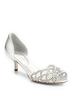 Sergio Rossi - Bridal Crystal-Coated Metallic Leather Sandals