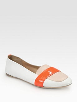 Reed Krakoff - Colorblock Leather & Patent-Trimmed Smoking Slippers