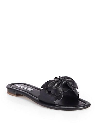 Scalita Metallic Leather Bow Sandals