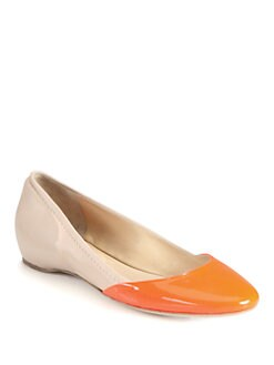 Reed Krakoff - Bicolor Leather & Patent Ballet Flats