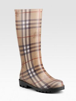 Burberry - Check Rain Boots