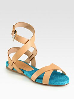 Ralph Lauren Collection - Maira Leather Sandals