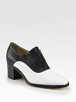 Reed Krakoff - Patent Leather & Leather Laceless Oxfords
