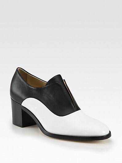 Patent Leather  Leather Laceless Oxfords