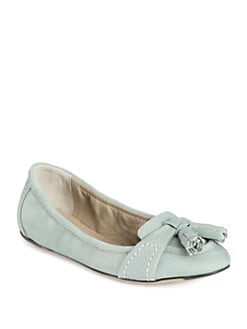Burberry - Paulet Leather Tassel Ballet Flats